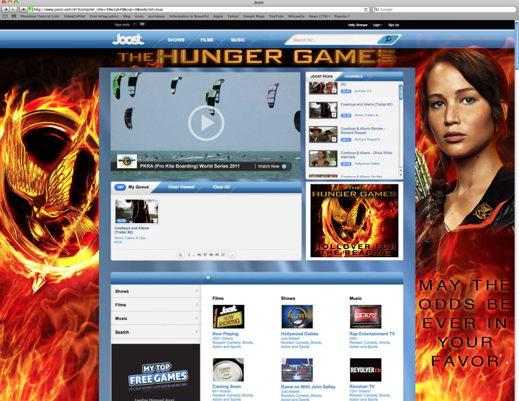 The Hunger Games Site Skin