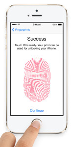 It reads your fingerprint now.